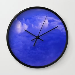 Aerial Blue Hues II Wall Clock