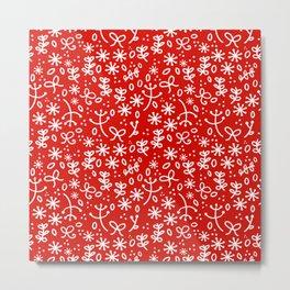 Christmas Floral Metal Print