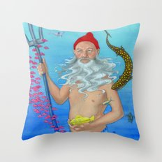Ruler of the Deep Throw Pillow