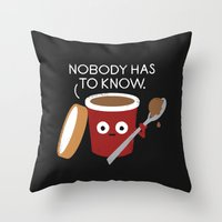 yetiland Throw Pillows featuring Cold Comfort by David Olenick
