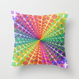 Colorful mosaic pattern design artwork- colorful christmas gifts- pixel art Throw Pillow