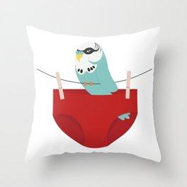 budgie smuggler Throw Pillow