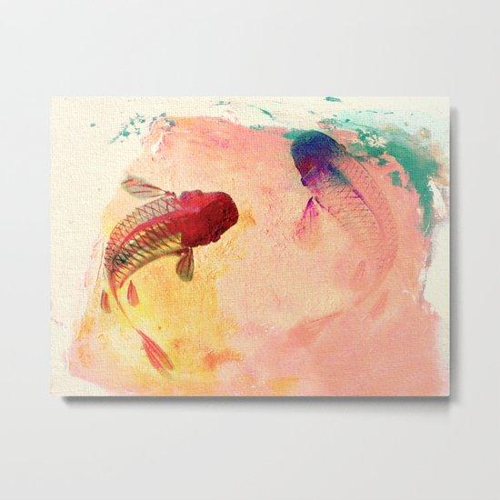 Canvas Koi Metal Print