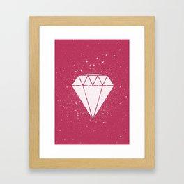 Space Diamond  Framed Art Print