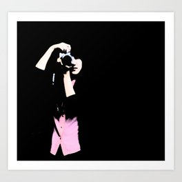 girl w/ camera Art Print