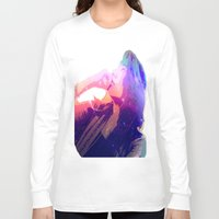 cosmic Long Sleeve T-shirts featuring Cosmic by Monica Selva