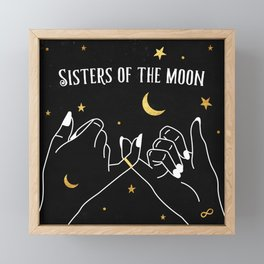 Sisters of The Moon Magical Witch Art Framed Mini Art Print