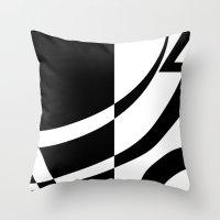 tim burton Throw Pillows featuring Burton by Pixiepot Designs