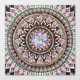 succulent mandala 6 Canvas Print
