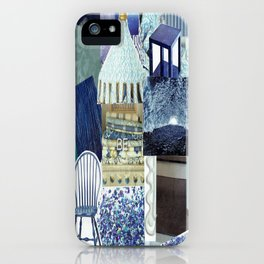 Collage - Feeling Blue iPhone Case