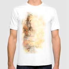 Cat's Stroll MEDIUM White Mens Fitted Tee