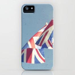 Flags - Union Jacks against a blue sky iPhone Case
