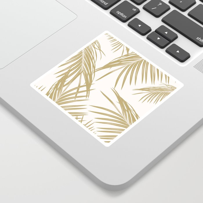 Gold Palm Leaves Dream #1 #tropical #decor #art #society6 Sticker