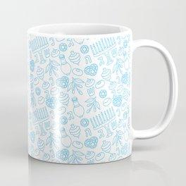 Simple Blue Hanukkah Seamless Pattern Coffee Mug