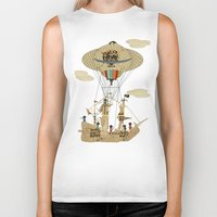 pirates Biker Tanks featuring sky pirates by bri.buckley