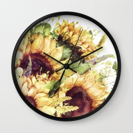 Nature Blooms (Vintage Sunflowers) Wall Clock
