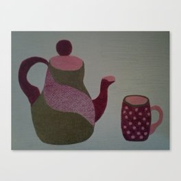 Modern Tea Set Canvas Print
