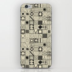 wolf geo black ivory iPhone Skin