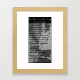 J&H Drinking Game Framed Art Print