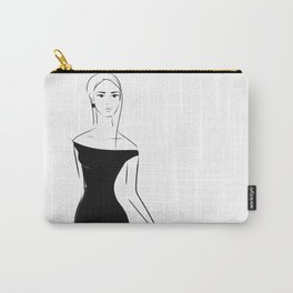 Lady in Black Carry-All Pouch