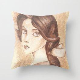 Bonjour, Elizabeth Throw Pillow