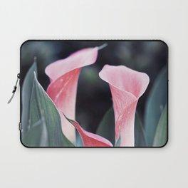 Pink Calla Flowers Laptop Sleeve