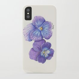 Purple Pansies iPhone Case