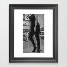 Just before dancing Framed Art Print
