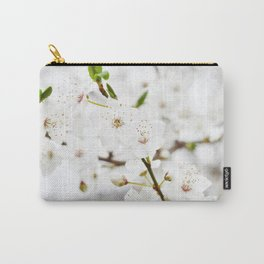 White blooming Carry-All Pouch