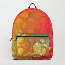 Decorative Gold Sparkling Bright Abstract Design Backpack
