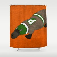 platypus Shower Curtains featuring Platypus by subpatch