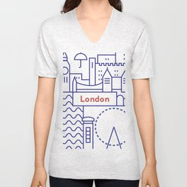 London Illustration Unisex V-Neck