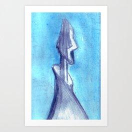 Torn by the blue sky  Art Print