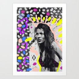 Kate Moss Tribal Far East Art Print