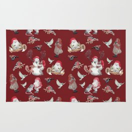 Red Gnome Pattern - Christmas Rug