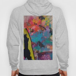 Lady Liberty Butterfly Explosion Hoody