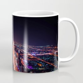 Luminous Dubaï City by Night Coffee Mug