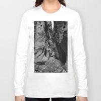 utah Long Sleeve T-shirts featuring Slot Canyon, Utah by Katya laRoche