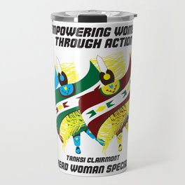 """Empowering Women Through Action"" Travel Mug"