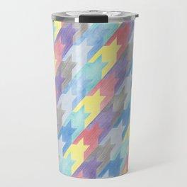 Multicoloured Houndstooth Travel Mug