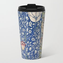 William Morris Victorian blue flowers Travel Mug