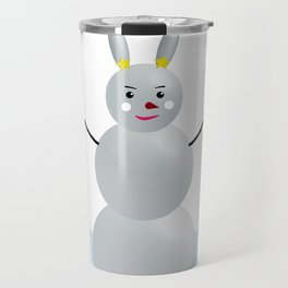 Rabbit Snowman Travel Mug