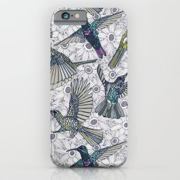 hum sun honey birds basalt iPhone Case