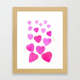 Pink Heart design Framed Art Print