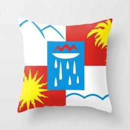 Sochi flag - Authentic version Throw Pillow
