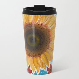 'HAPPY FACE' Metal Travel Mug