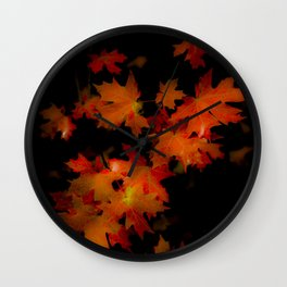 Leaving What's Left Wall Clock