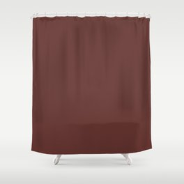 After Silence, Music ~ Reddish Brown Shower Curtain