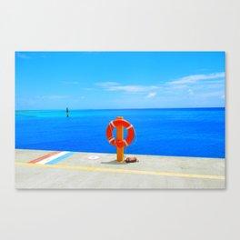 Grand Turk Pier Canvas Print