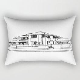Darwin Martin House in Black & White Rectangular Pillow